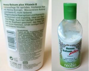neobio henna balsam n