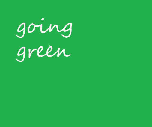 going green tag  blog