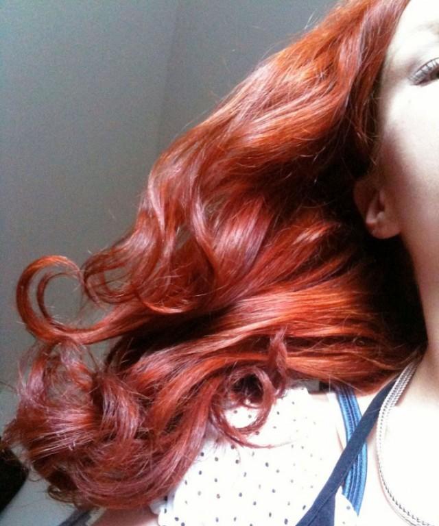 Henna rot gefärbtes Haar neu