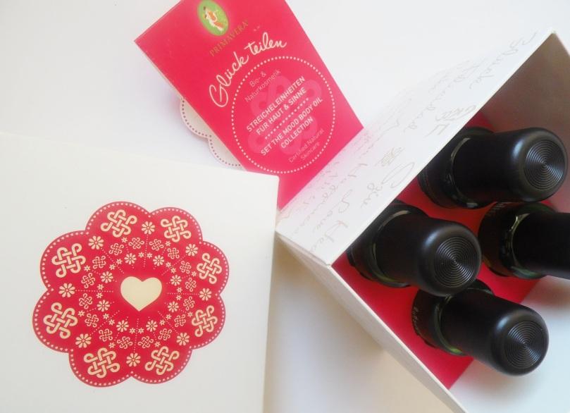 primavera Glück teilen Körperöl Streicheleinheiten Geschenkset